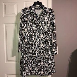 Soybu Dress   White Black Long Sleeve Athletic M